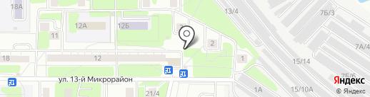 Киоск по ремонту обуви и изготовлению ключей на карте Новокузнецка