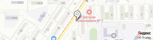 Базис на карте Новокузнецка