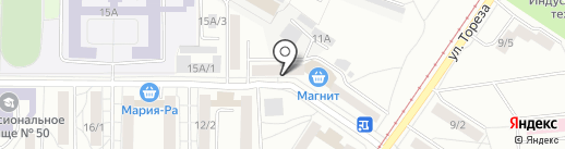 Волна на карте Новокузнецка