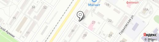 На районе на карте Новокузнецка