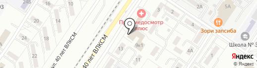 Баландина И.В. на карте Новокузнецка