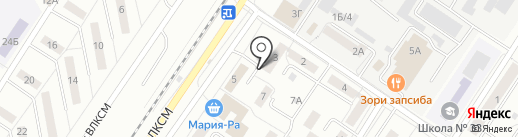 Киоск по ремонту обуви на карте Новокузнецка