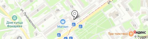 Киоск по продаже лотерейных билетов на карте Новокузнецка