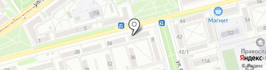Пенный на карте Новокузнецка
