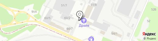 Кузбасская ярмарка, ЗАО на карте Новокузнецка