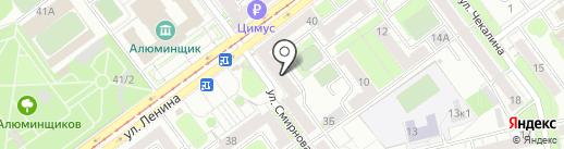 Магазин рыбы на карте Новокузнецка