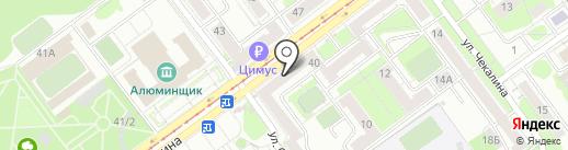 Экона на карте Новокузнецка
