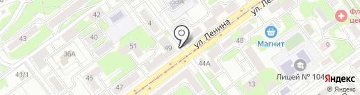 Золотая рыбка на карте Новокузнецка