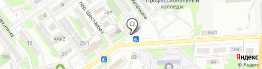Киоск по продаже хлебобулочных изделий на карте Новокузнецка