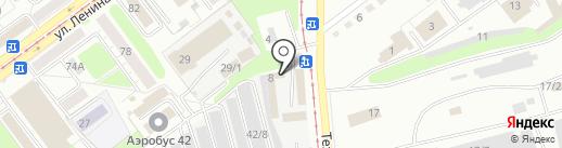 Новокузнецкие микроавтобусы на карте Новокузнецка