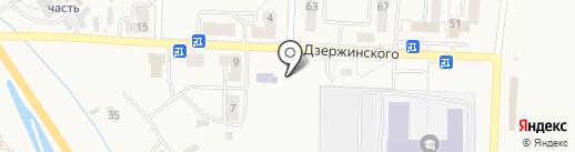 Основная общеобразовательная школа №15 на карте Калтана