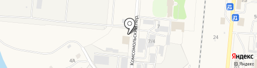 Пожарно-спасательная часть №2, 12 отряд ФПС по Кемеровской области на карте Калтана
