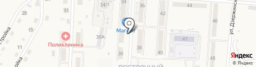 Киоск по продаже хлебобулочных изделий на карте Калтана