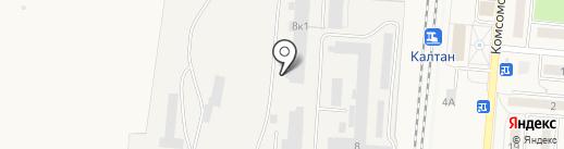 Калтай на карте Калтана