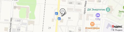 Магазин тканей и трикотажных изделий на карте Калтана