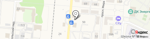 Элис на карте Калтана