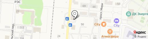 Баттерфляй на карте Калтана