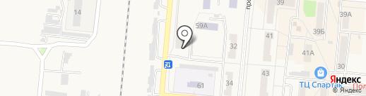 Общежитие на карте Калтана