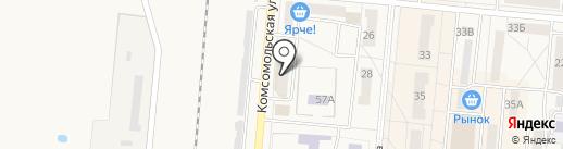 Центр Связи на карте Калтана