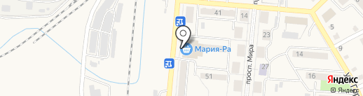 Акварель на карте Калтана
