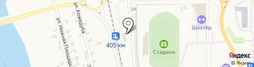 Железнодорожный вокзал на карте Осинников