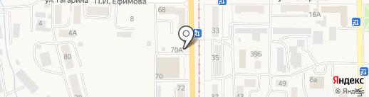 Спартак на карте Осинников