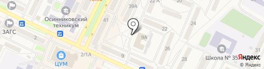 Массажный кабинет на карте Осинников
