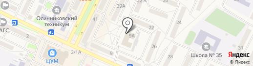 Новая Сибирь на карте Осинников