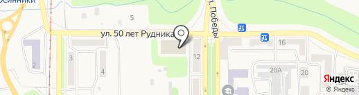 Кубометр на карте Осинников