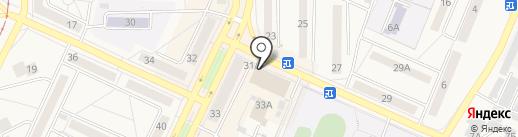 Магазин канцелярских товаров, игрушек и товаров для праздника на карте Осинников
