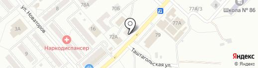 Пивточка на карте Новокузнецка