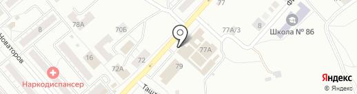 Магазин жеской одежды на карте Новокузнецка
