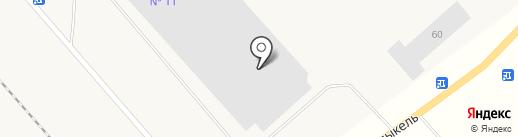 ТЭЦ-3 на карте Норильска