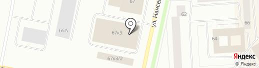 Норильский городской рынок на карте Норильска