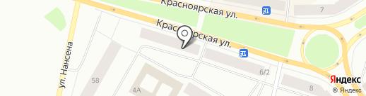 Магазин мебельных тканей на карте Норильска