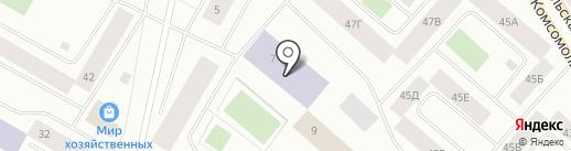 Средняя общеобразовательная школа №17 на карте Норильска