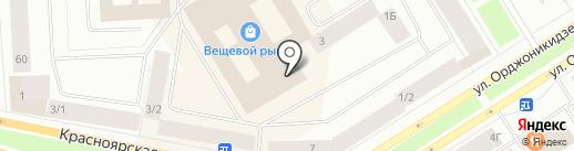 КОЛОРИТ на карте Норильска