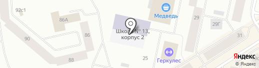 Средняя общеобразовательная школа №13 на карте Норильска