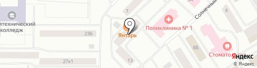 Продуктовый магазин на Солнечном проезде на карте Норильска
