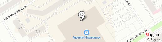 Московский ювелирный завод на карте Норильска