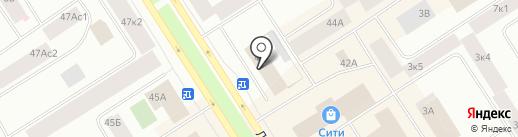 НОРКОМ на карте Норильска