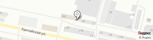 Автопорт на карте Норильска