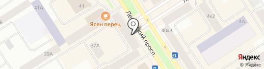Губернские аптеки, ГП на карте Норильска