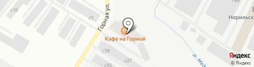 На Горной на карте Норильска
