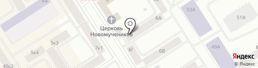 Алгоритм на карте Норильска