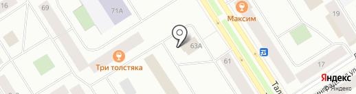 Вечерний на карте Норильска