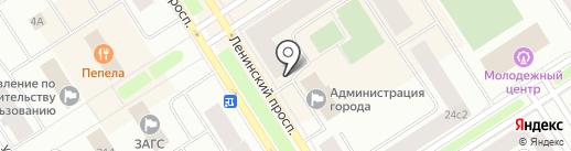Магазин овощей и фруктов на карте Норильска