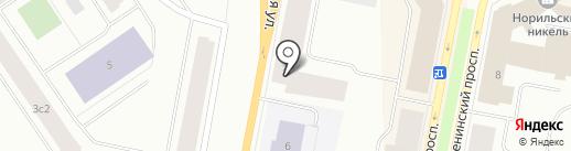Глазурь на карте Норильска