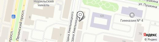 Зефир на карте Норильска