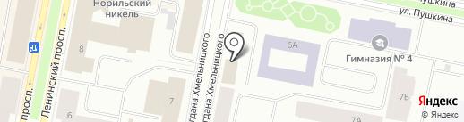 Продукты, магазин на карте Норильска